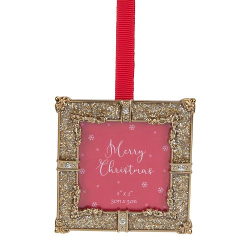 Gold Glitter Mini Photo Frame Christmas Tree Decoration Gift